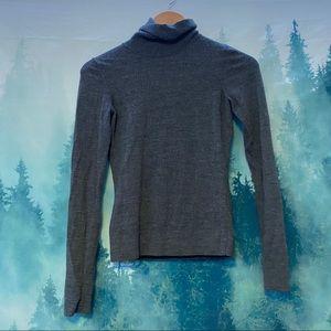 HOBBS London gray turtleneck wool sweater